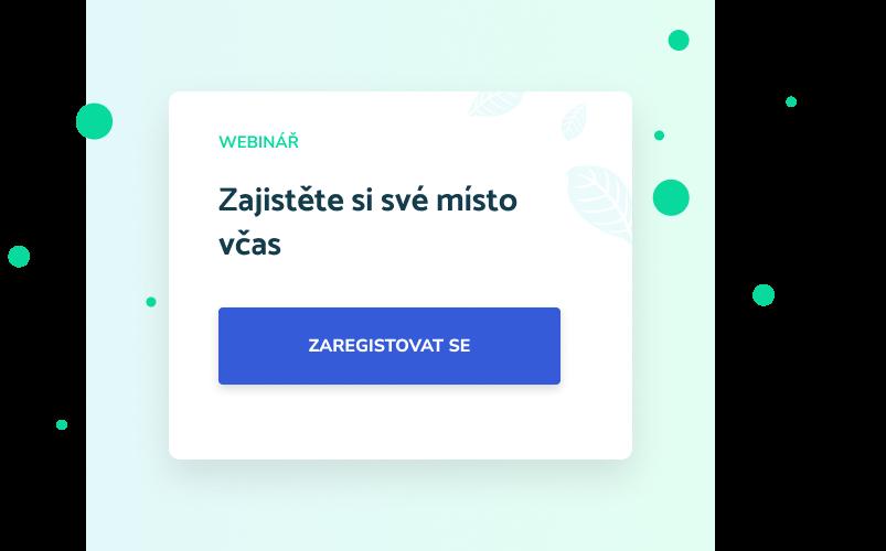 Tlačítko registrace do webináře